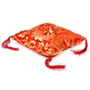 Klangschalen-Zubehör, Phoenix Kissen für Klangschale rot mit Blumenmotiv - Meine Spiritualität