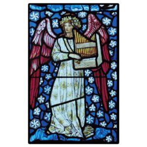 Engel, Fensterbilder, Meditation, Phoenix, Spiritualität Fensterbild Musikengel St. Peter und Paul Kirche - Meine Spiritualität.de