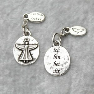 Anhänger, Engel, Geschenke, Meditation, Spiritualität I FEEL GOOD – Engel – ich bin bei dir – versilbert - Meine Spiritualität