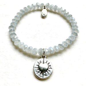 Armbänder, Engel, Geschenke, Meditation, Schmuck, Spiritualität I FEEL GOOD – Gelassenheit – Kristall-Armband – versilbert - Meine Spiritualität