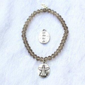 Armbänder, Engel, Geschenke, Schmuck FEEL GOOD – ich bin bei dir – Kristall-Armband (IV) – Rauch Quarz – versilbert - Meine Spiritualität