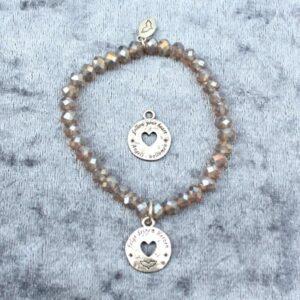 Armbänder, Engel, Geschenke, Meditation, Schmuck, Spiritualität I FEEL GOOD – folge deinem Herzen – Kristall-Armband – Rauch Quarz (Nr.IV) – versilbert - Meine Spiritualität.de