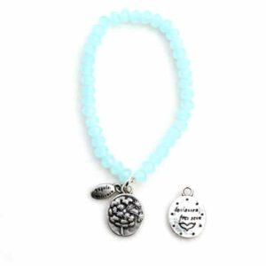 Armbänder, Engel, Geschenke, Meditation, Schmuck, Spiritualität Pusteblume – loslassen… – Kristall-Armband blue water – versilbert - frei sein - Meine Spiritualität