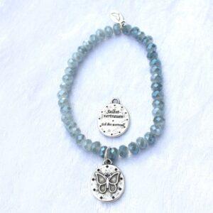Armbänder, Engel, Geschenke, Meditation, Schmuck, Spiritualität FEEL GOOD – Selbstvertrauen – Kristall-Armband light blue (IX) – versilbert - Ich bin wertvoll - Meine Spiritualität.de