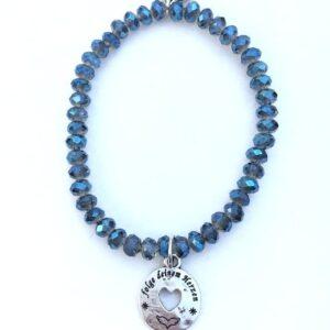 Armbänder, Engel, Geschenke, Meditation, Schmuck, Spiritualität I FEEL GOOD – folge deinem Herzen – shiny blue-Armband – versilbert - Meine Spiritualität