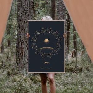 Mondphasen-Wandkalender 2021 - meine-Spiritualitaet.de - Geschenke - Kalender - moon calender - 2021 - Neuheit - Esotherik - supervipes