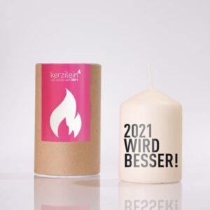 Flämmchen - 2021 - 2021 wird besser - WIRD BESSER - Geschenk - Kerzilein - meine-spiritualitaet.de